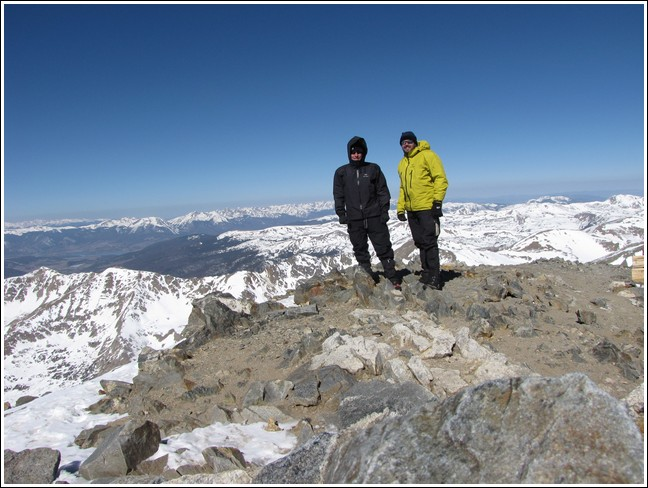 Grays and Torreys Peaks April 7, 2012