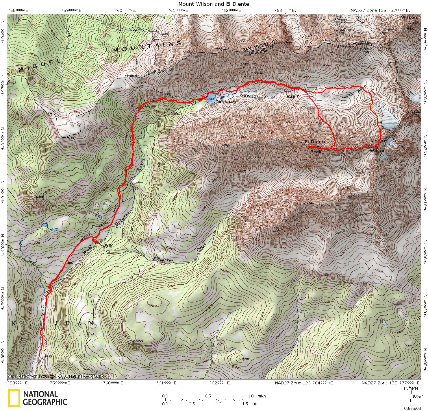 Mount Wilson And El Diente